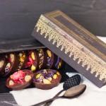 Chocolatinas de frutas y flores y una tarde con amigas